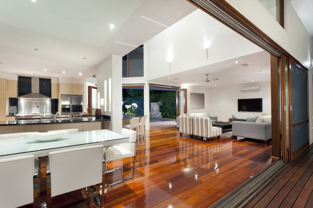 Elegant house with hardwood floor