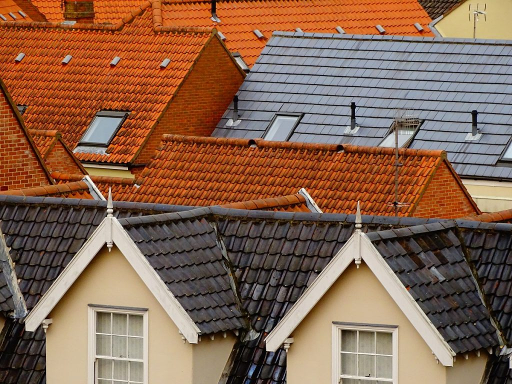 Assorted roof tiles