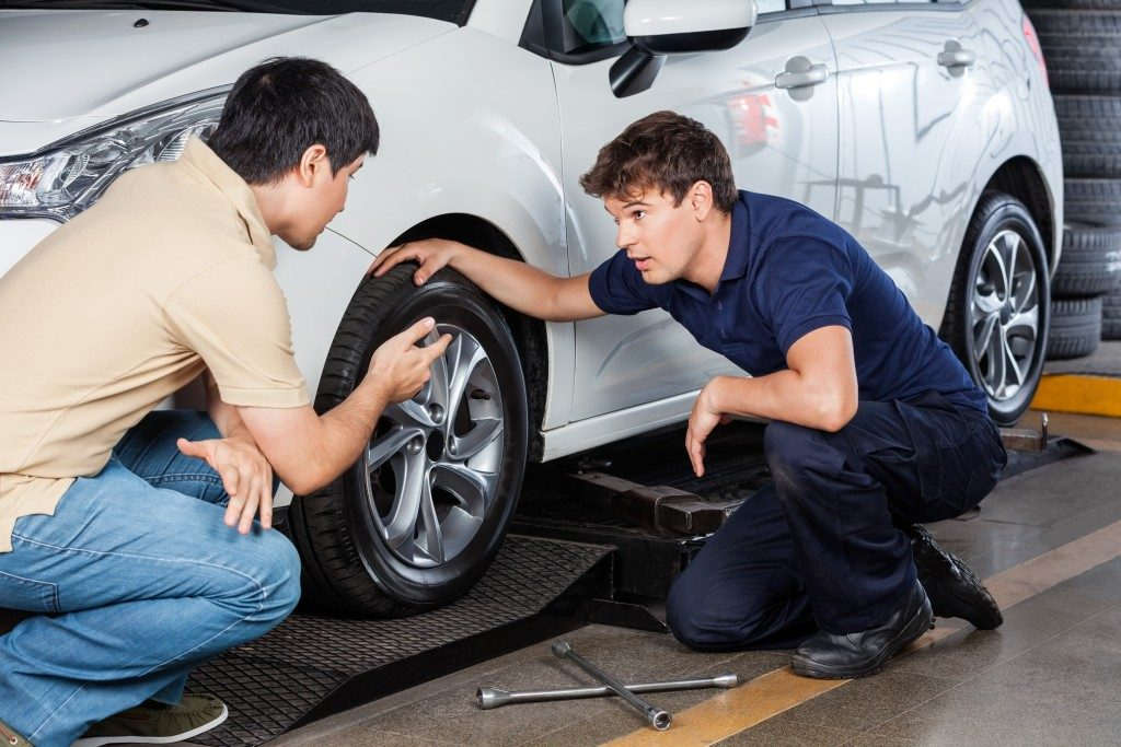 fixing car tires