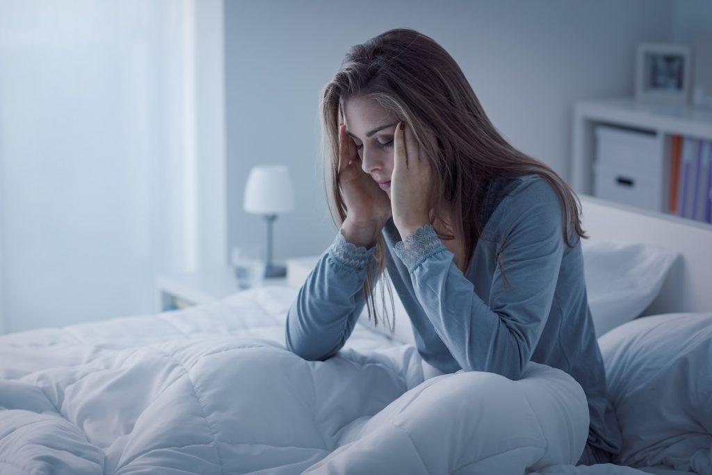 sleep deprived woman