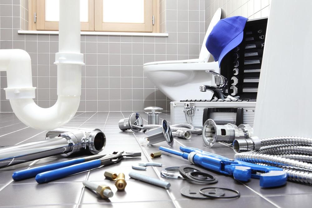 fixing bathroom