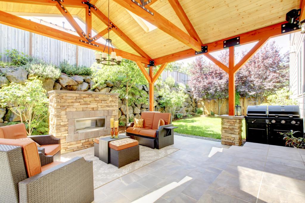 luxurious patio