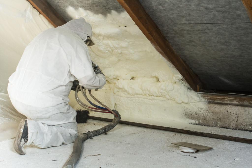 Installing foam
